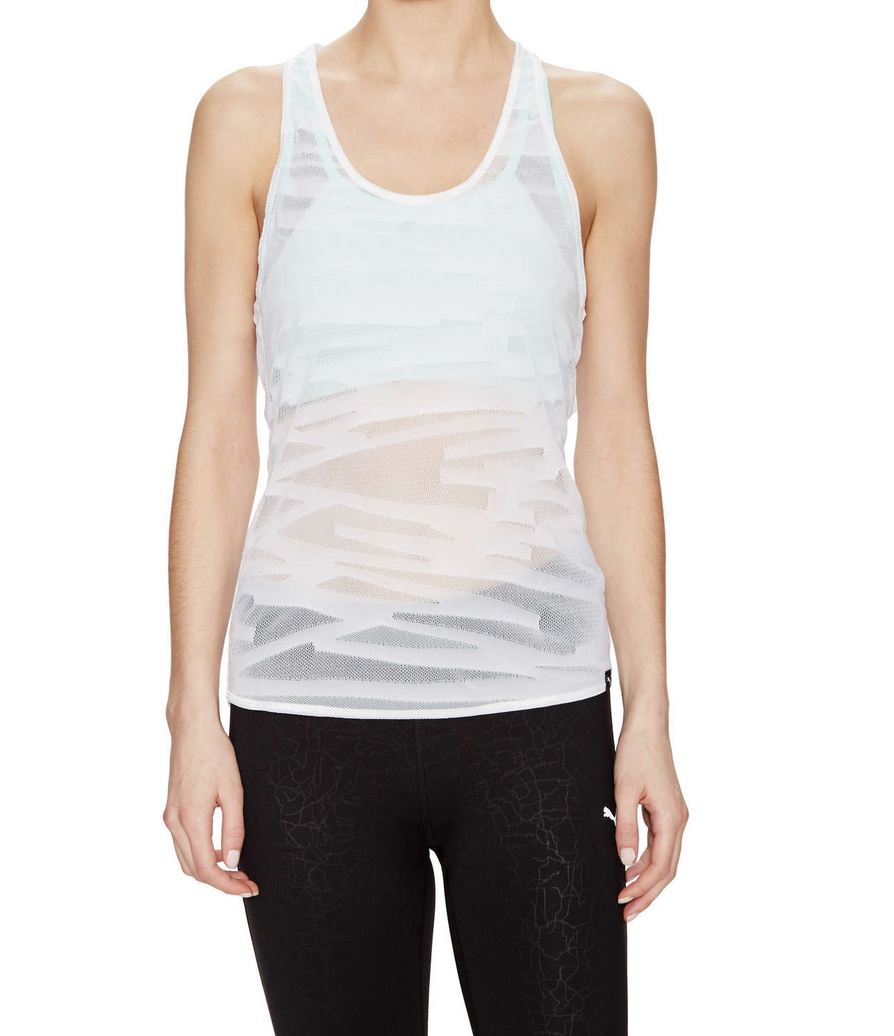 I ordered this tank in size XS, since my other Puma mesh tank that looks  similar to this one is size S and HUGE! But I wish I had this one in ...