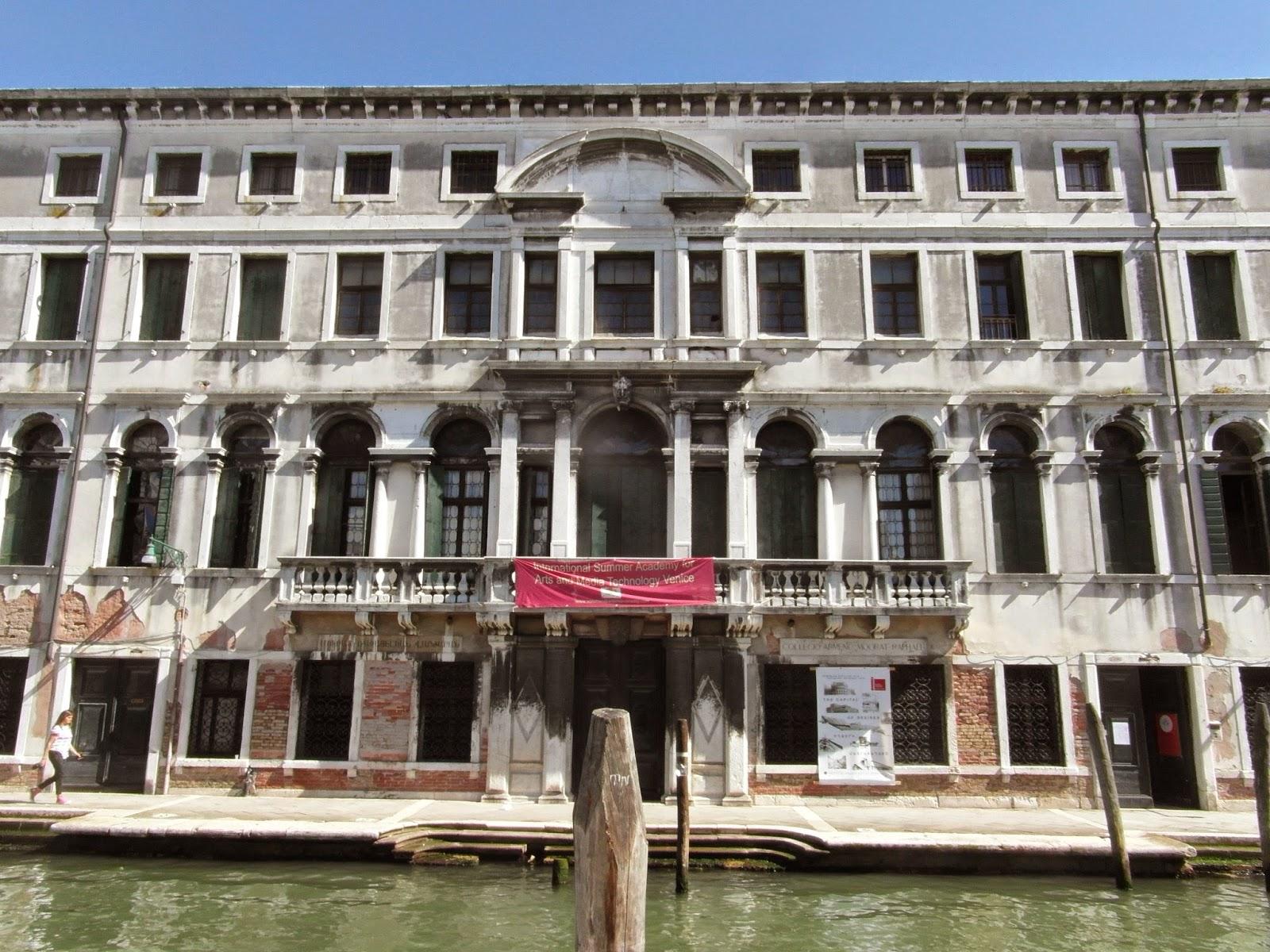The Ca' Zenobio in Venice.