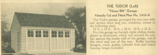 sears catalog 1938 tudor garage