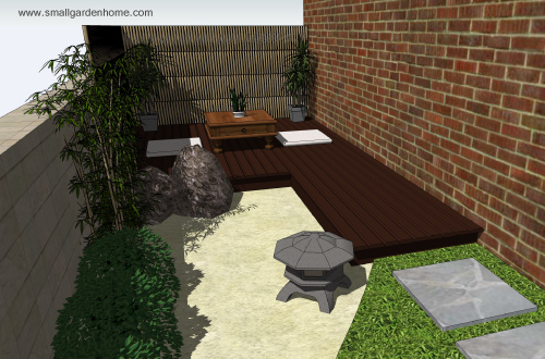 Small garden ideas small garden ideas japanese garden for Japanese decking garden