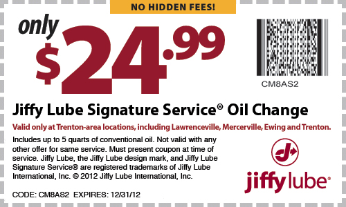 Jiffy lube discount coupon