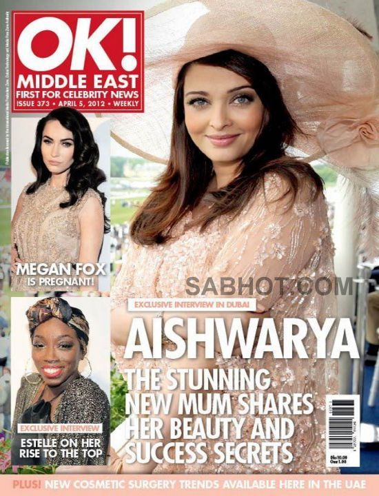 Aishwarya Rai on cover of Ok Middle East April 2012 magazine - Aishwarya Rai Ok Middle East April 2012 magazine scan