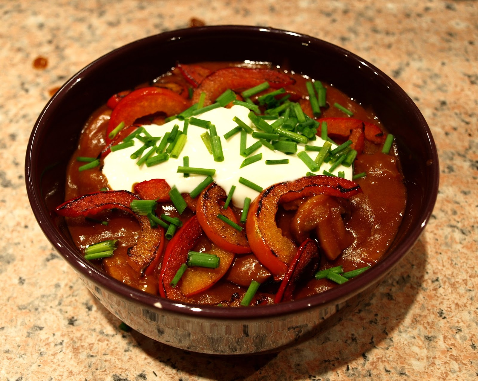 "the Willis kitchen: beef goulash ""Hungarian style"" [i.e. with papri..."
