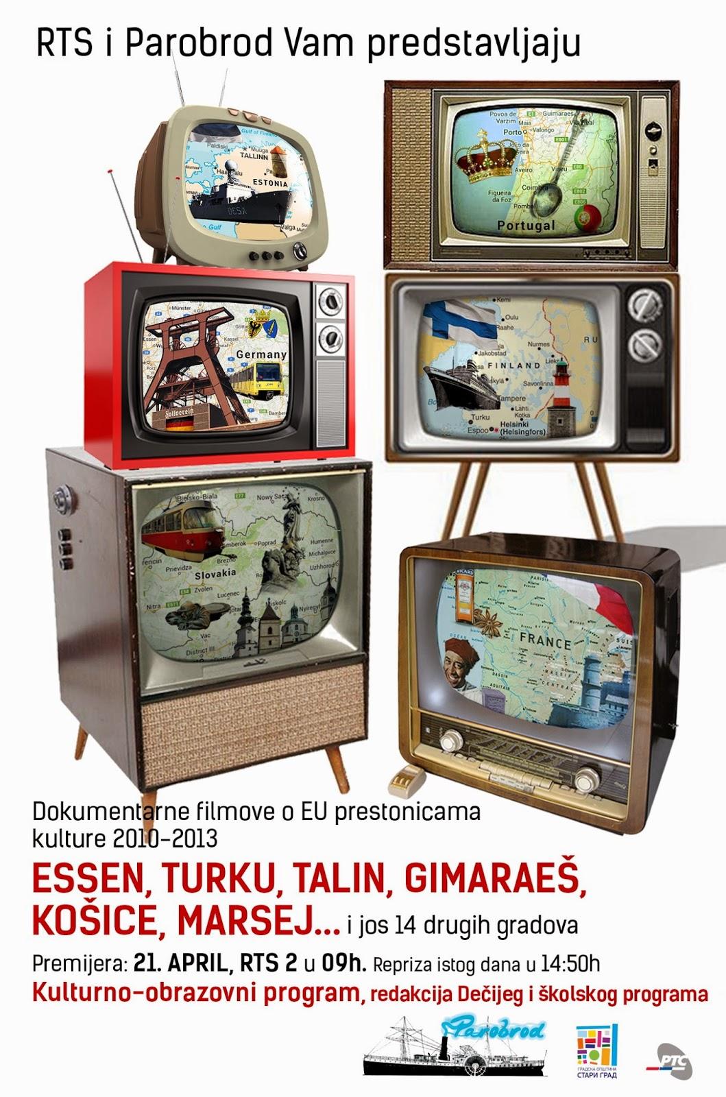 Dokumentarni filmovi o evropskim prestonicama kulture na RTS-u