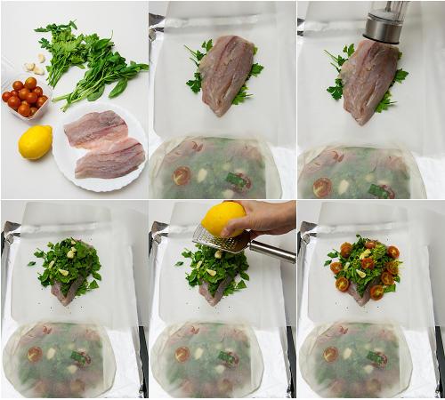 焗盲槽魚製作圖 How to Prepare Barramundi Parcel01