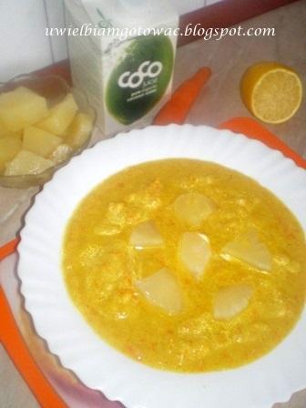 Tajska zupa kokosowo-bananowa
