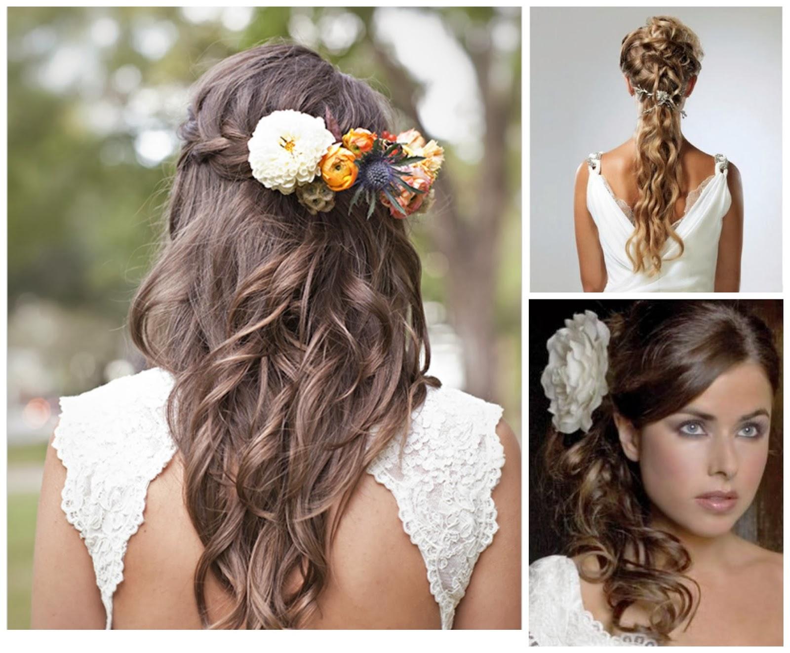 Peinados Boda Semirecogidos - Peinados fáciles para cabello corto y media melena
