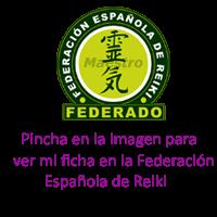 Maestra de la Federación Española de Reiki nº 3824