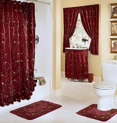 Rideaux de douche salle de bains design interieur france - Rideaux salle de bain ...
