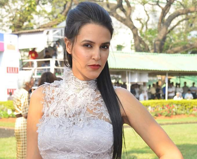 Neha Dhupia at Elle Cup and IIFA promotional event hot photos