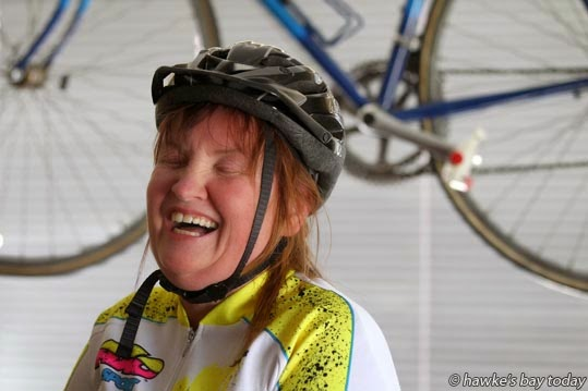 Helly Wilson-Blackbourn, Hastings, has 20 per cent vision, and will be entering Tour of the Bay cycle race on Sunday, on a tandem bike with her partner Glenn Irwin. photograph