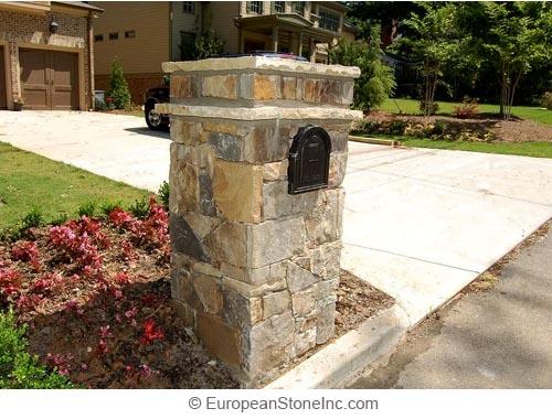 Brick And Stone Pillars : Brick driveway image columns