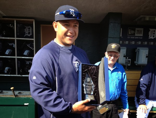 Miguel Cabrera named Tiger of the Year again for 2013
