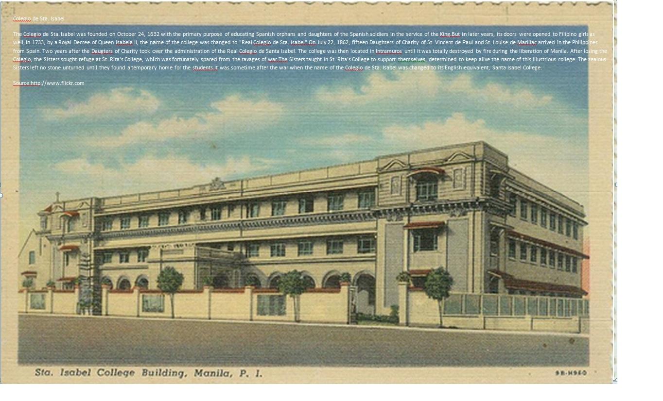 Colegio Sta. ISabel, Manila