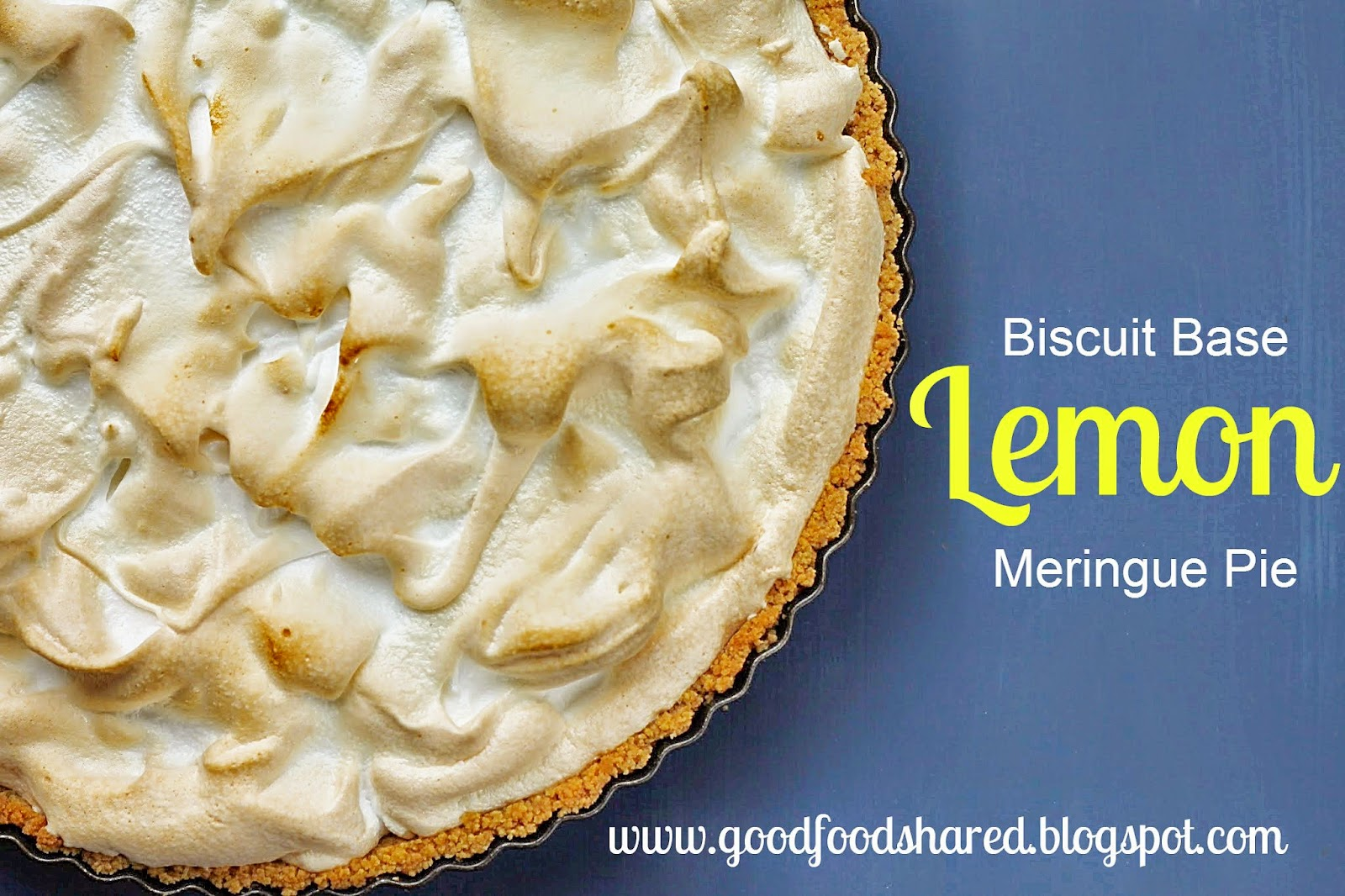 with biscuit bottom Lemon meringue
