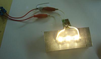 Светодиодный светильник своими руками 3W