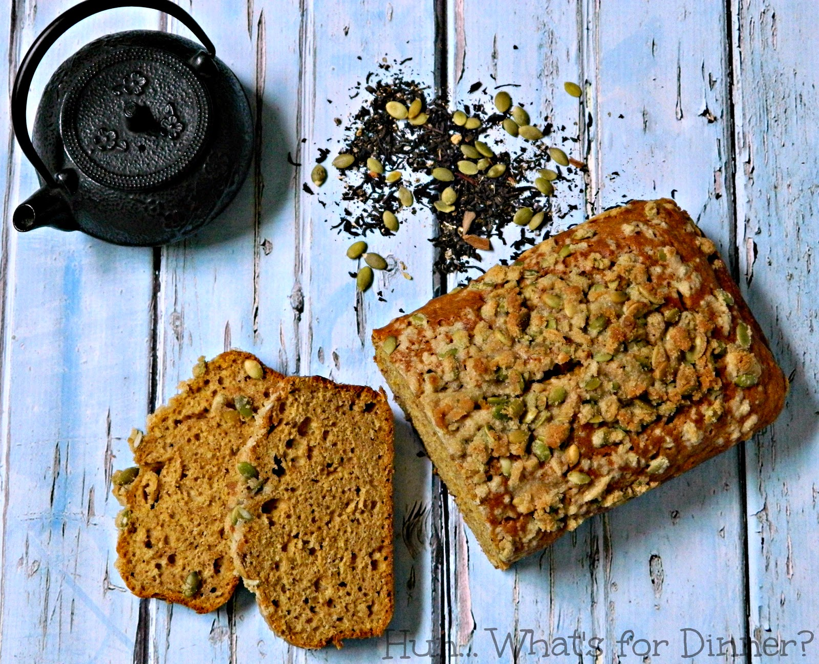 Warm spices found in Chai tea, are paired with vanilla bean and pumpkin, in this moist delicious loaf of sweet bread.