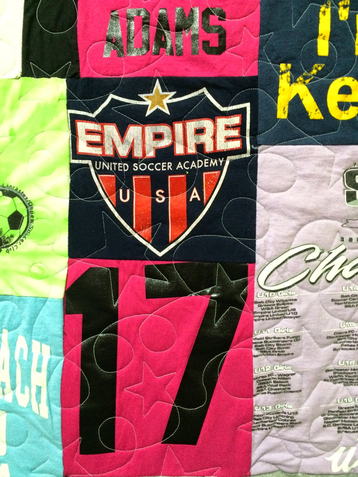 Jennifer Adams's Soccer T-Shirt Quilt