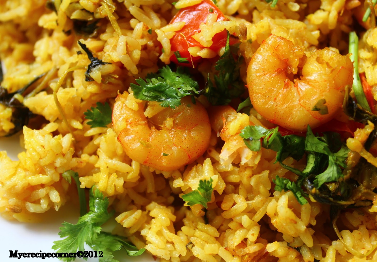 Mye's Kitchen: Chettinad Prawn Biryani/ Era Biryani Recipe.