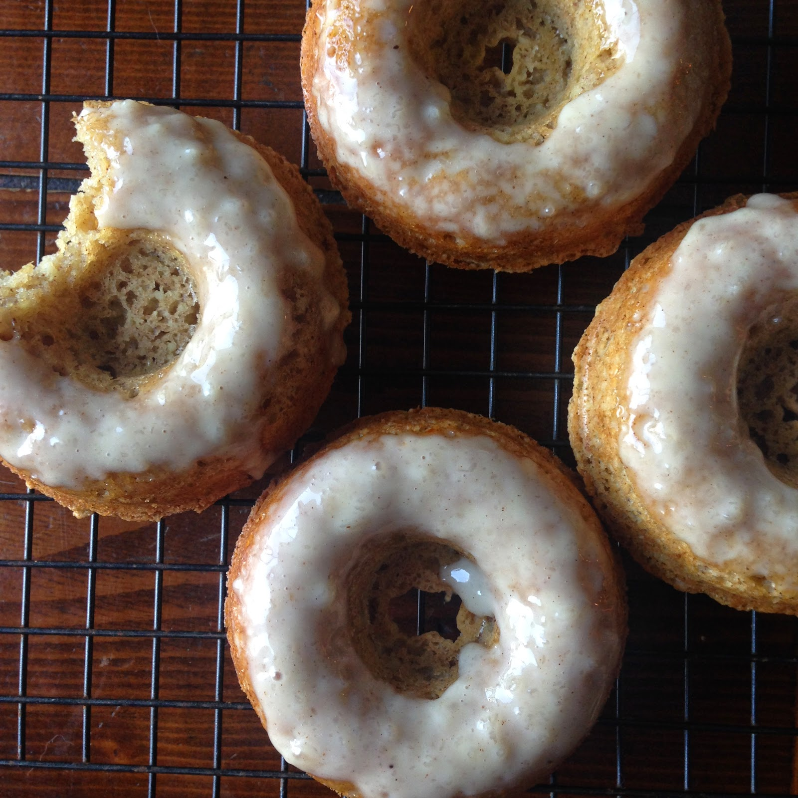 almond flour doughnuts with grated apple