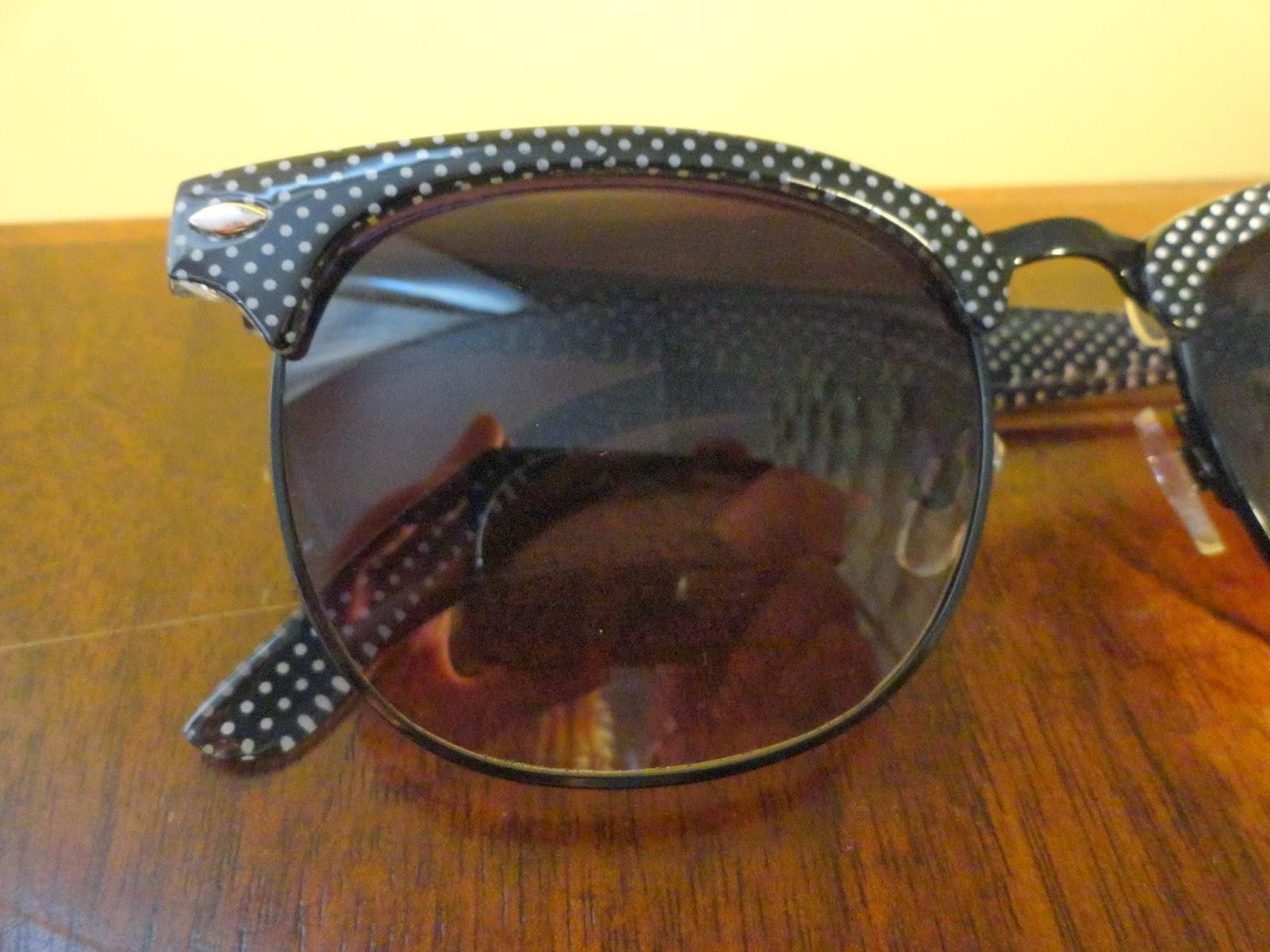 Clothes & Dreams: Shoplog: Primark: black and white dotted sunglasses detali
