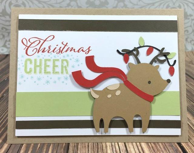 Cricut Reindeer card