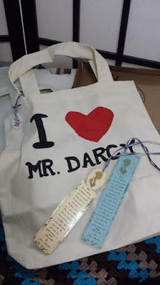 bolsa ecobag i heart/love Mr. Darcy entregue