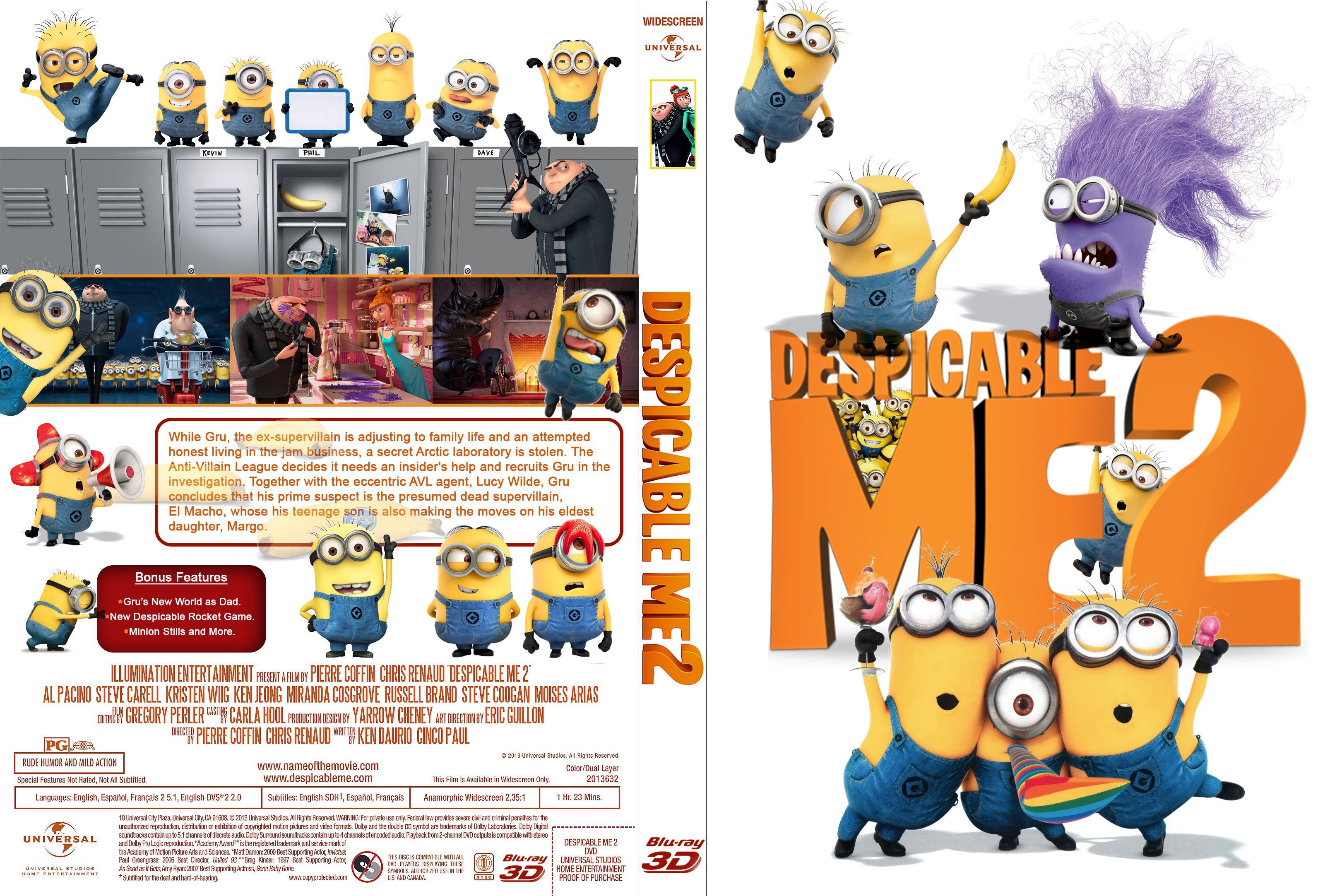 Capa Bluray Despicable Me 2