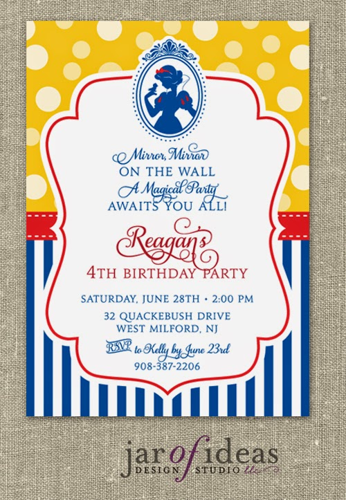 Jar of Ideas – Snow White Party Invitations