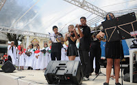 Coro e orquestra de alunos do Grêmio Musical Paquequer
