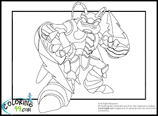 skylanders swarm coloring pages