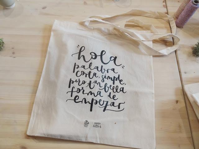 Bolsa - Taller Lettering para eventos - Happy Letters