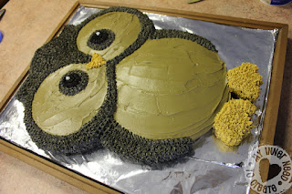 Owl Cake made from Round Cake Pans