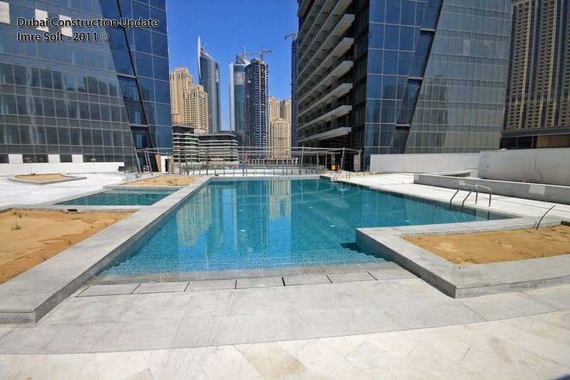 Dubai Constructions Update By Imre Solt Silverene Towers Swimming Pool Area And Jacuzzi Photos