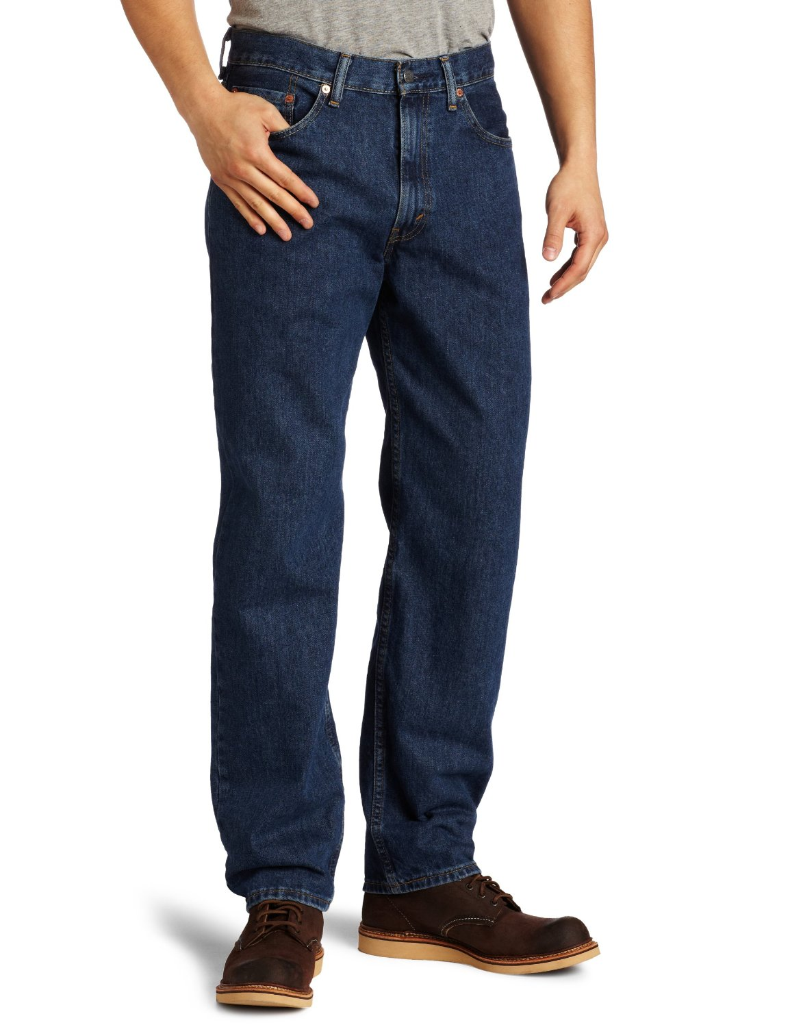 Men's jeans come in a variety of cuts and colors. When choosing the right pair, you'll need to consider where you're wearing them, the activity you're doing, your body type, and your personal style. Different styles of men's jeans.
