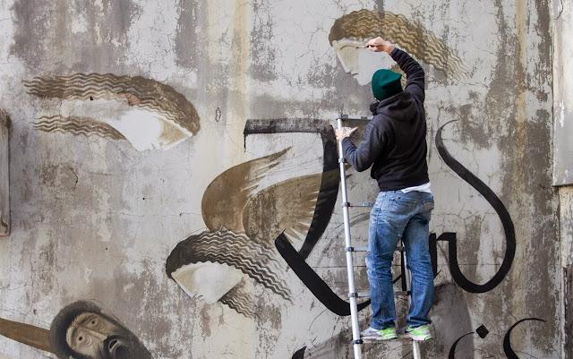 Street Art By Fikos Antonios and Simon Silaidis in the abandoned Sanatorium of mount Parnitha - Athens, Greece. 4