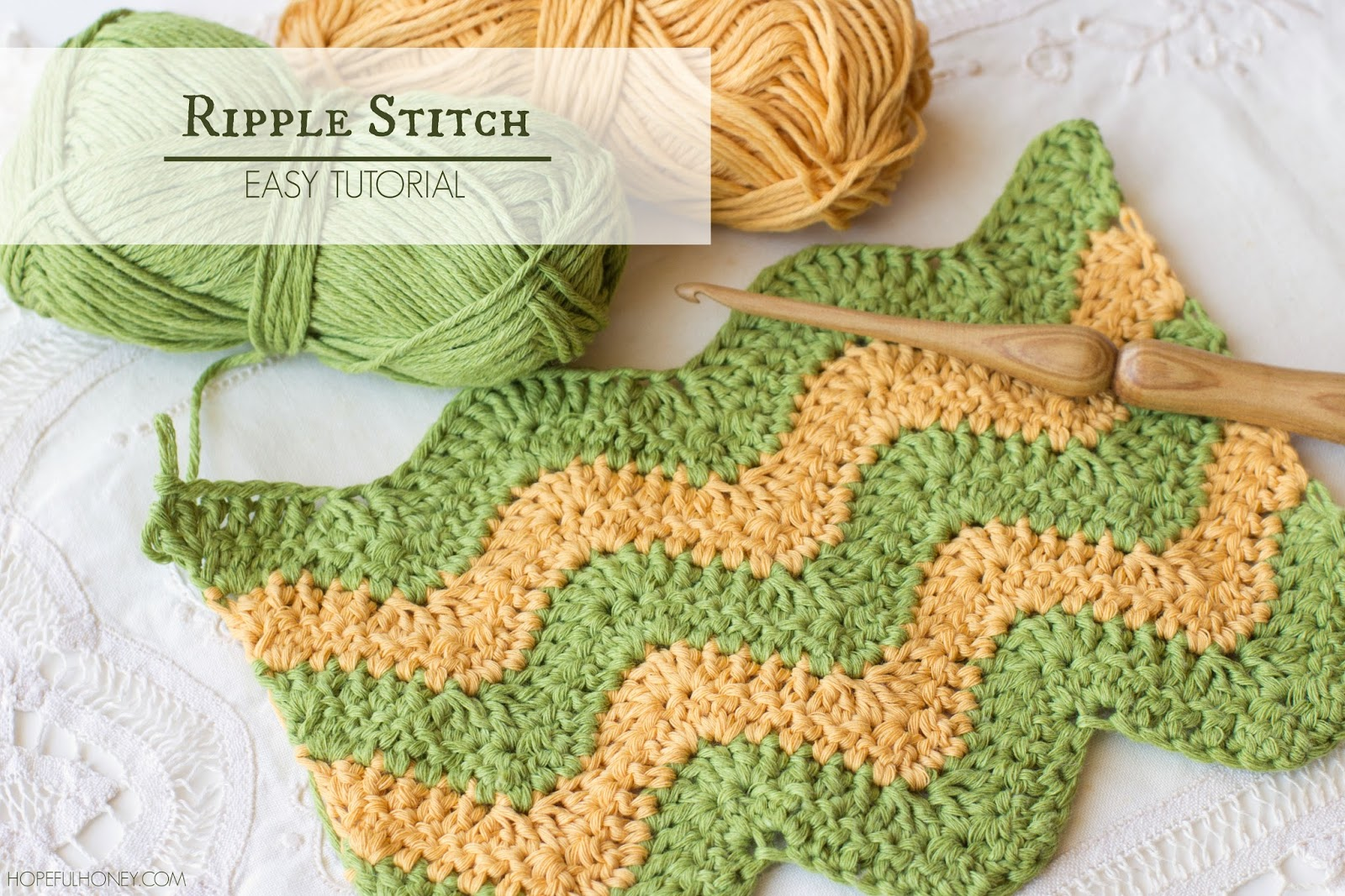 Crochet Stitches Tutorial : ... , Create: How To: Crochet The Ripple (Chevron) Stitch - Easy Tutorial