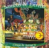 foto da capa do cd sambas de enredo 2003 grupo de acesso
