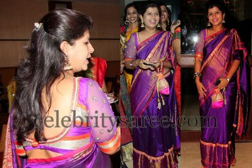 Nikitha Reddy Traditional Saree