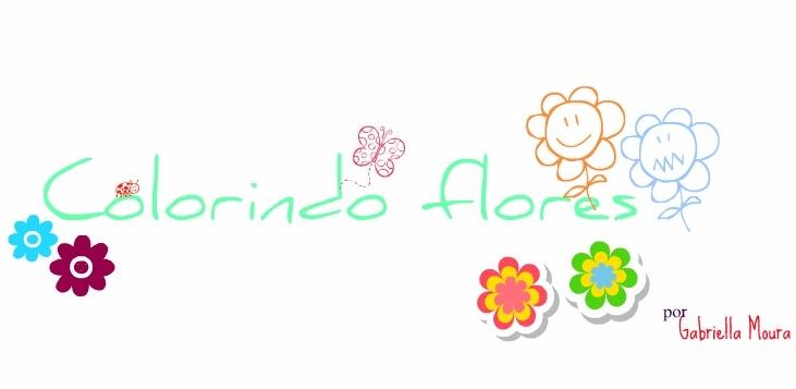 Colorindo flores