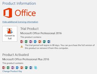 Cara Mudah Aktivasi MS. Office 2016 Professional Plus