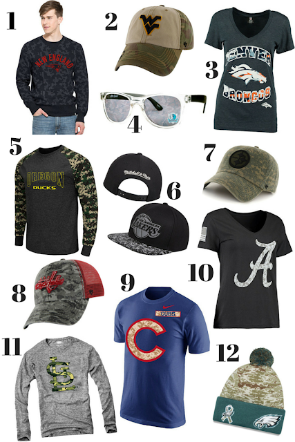 camouflage sports team gear