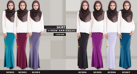 Koleksi TErbaru Long Skirt High quality Lycra Boleh Pilih Ada Size SS -XXXL