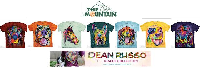 The Mountain Dean Russo Rescue Collection tees