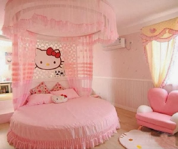 Decoration chambre hello kitty b b et d coration for Chambre a coucher hello kitty