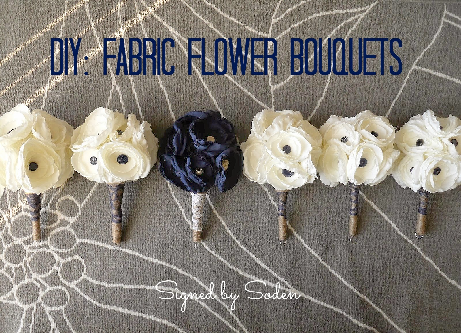 fabric flower wedding bouquets