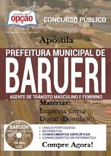 Apostila Concurso Prefeitura de Barueri 2016 Agente de Trânsito.