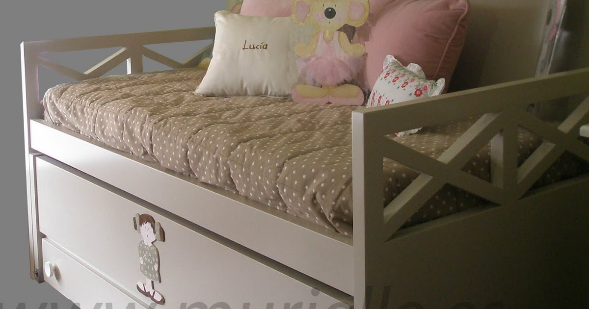 Cama doble con cajones for Cama infantil doble con cajones