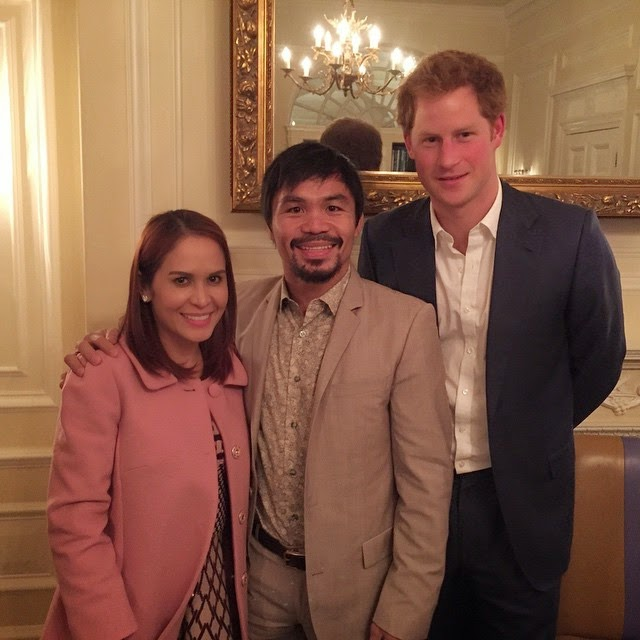 Spotted: Manny Pacquiao meets Prince Harry