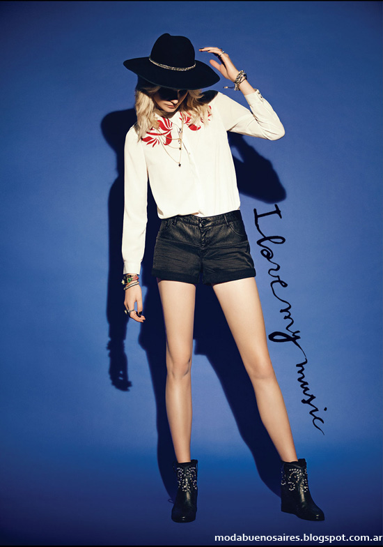 Shorts de moda en invierno 2014 Rapsodia coleccion otoño invierno 2014.